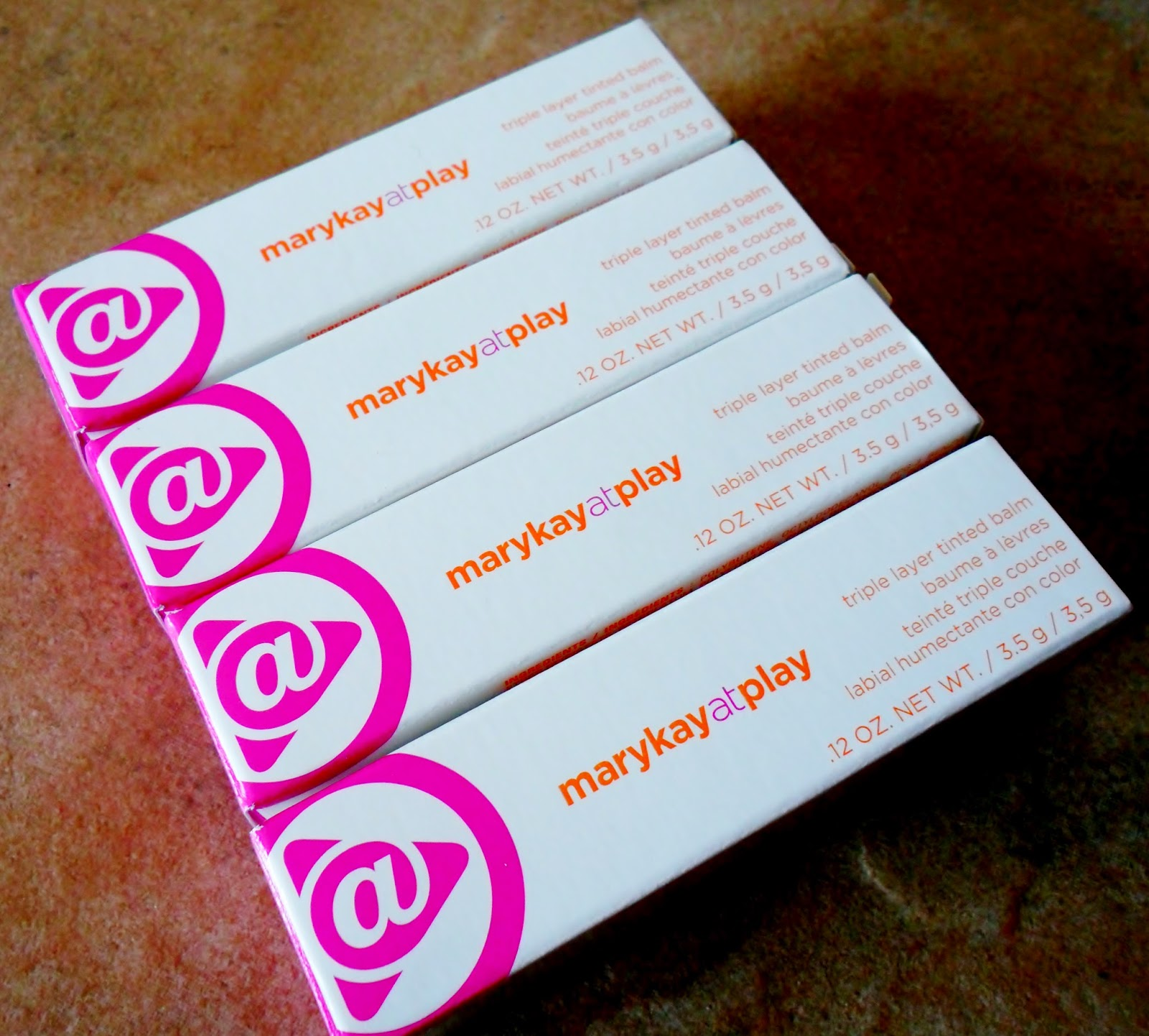 Review: Mary Kay At Play Triple Layer Tinted Lip Balm in Pink Again, In the Plum, Atomic Red & Orange You Lovely