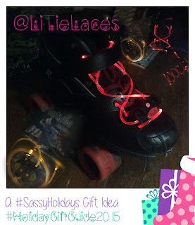 LitTieLaces:  Lightup Laces a Stocking Stuffer