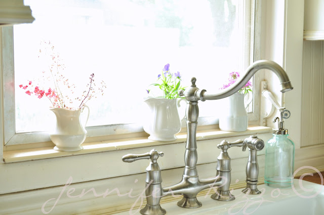 Add slim tiles to windowsill to keep water from ruining wood