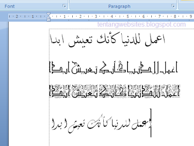 kumpulan font kaligrafi arab