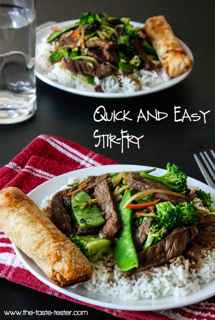 Quick and Easy Stir-Fry www.the-taste-tester.com #recipe #dinner
