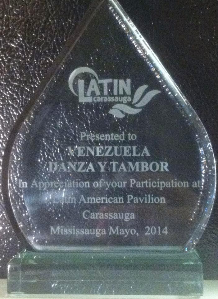 RECONOCIMIENTO A VENEZUELA DANZA Y TAMBOR  EN CARASSAUGA FESTIVAL CANADA 2014