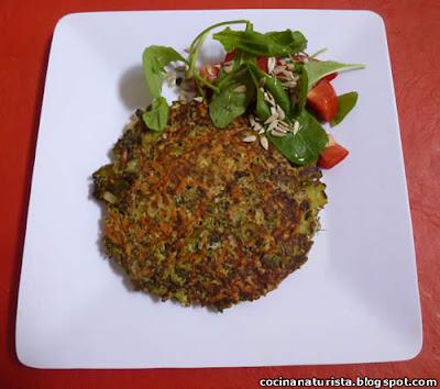 cocina naturista,comida natural,receta natural,tortilla vegetal,