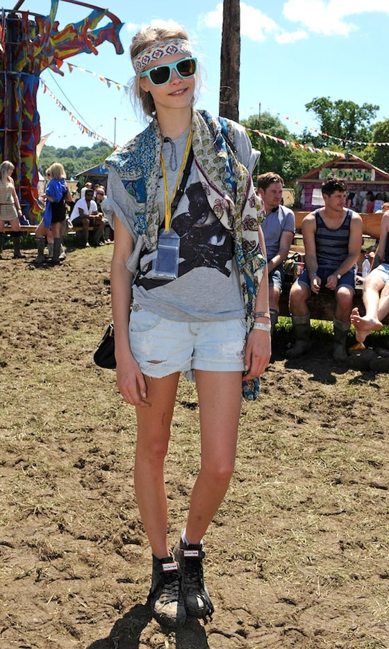 Cara Delevingne at Glastonbury 2011