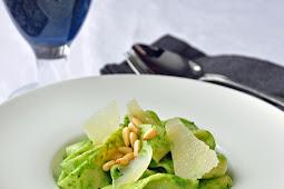 Spinach Pesto Pappardelle
