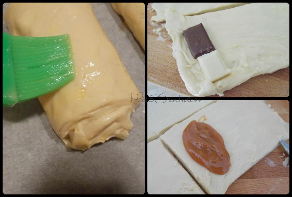 Napolitanas de chocolate y caramelo con Thermomix
