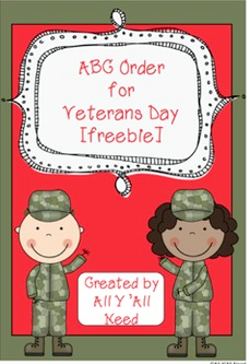 ABC Order for Veterans Day Freebie by All Y'all Need