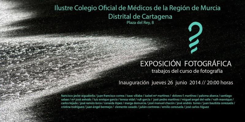 Exposición en el Ilustre Colegio de Médicos, lugar Cartagena