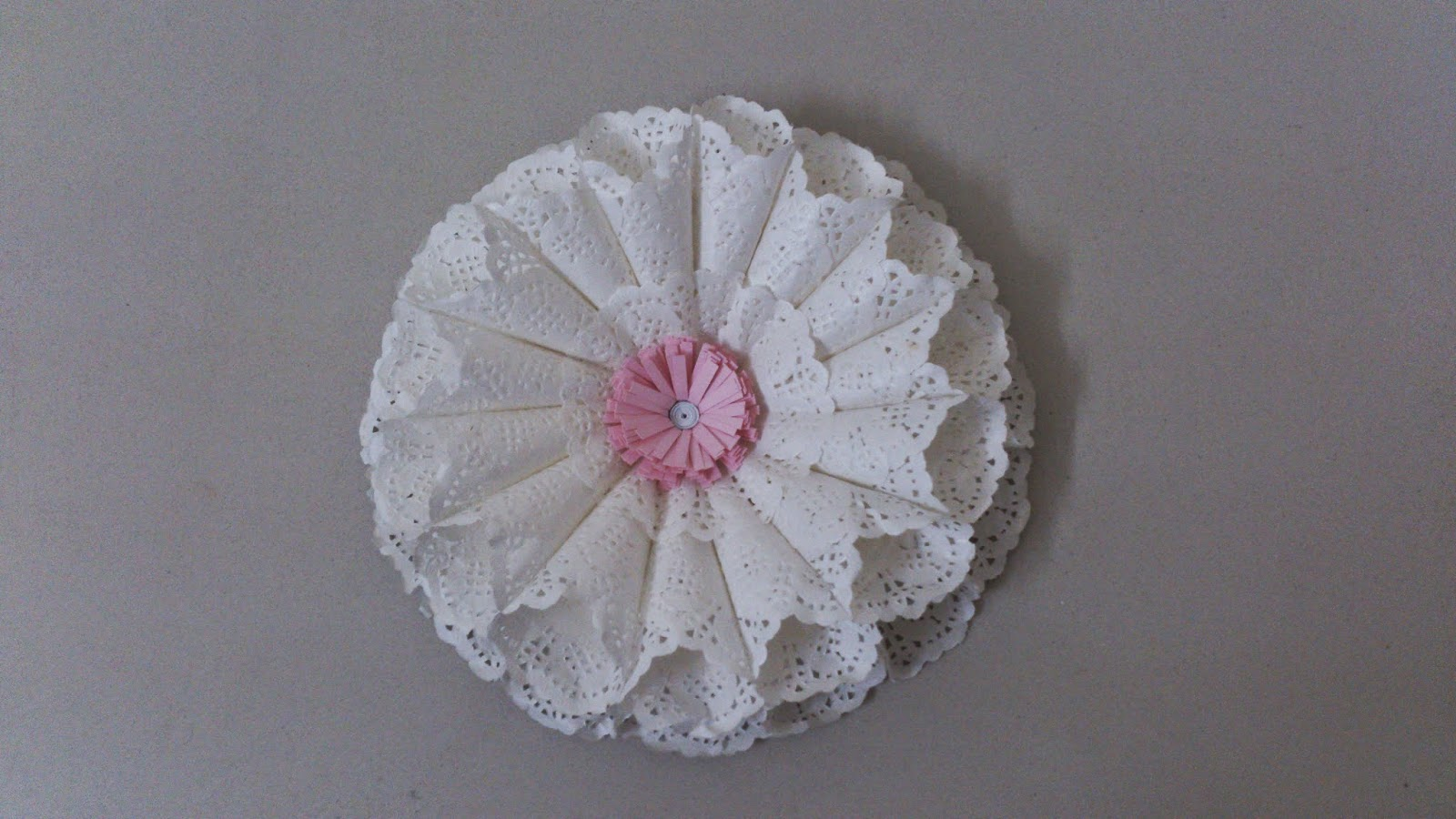 Handmade paper flower top view