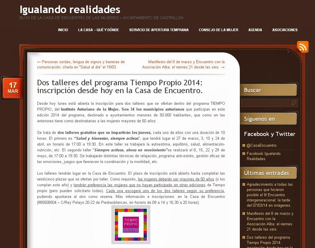 Experiencias en salud desde castrillon marzo 2014 - Tiempo en salinas castrillon ...
