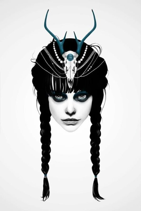 ruben ireland ilustração mulheres temas natureza indígena surreal