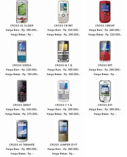 Daftar Harga HP Cross Terbaru 2013. Simak terus postingan Cara Harga