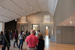 Photograph of the main entrance into The Picasso Effect exhibit