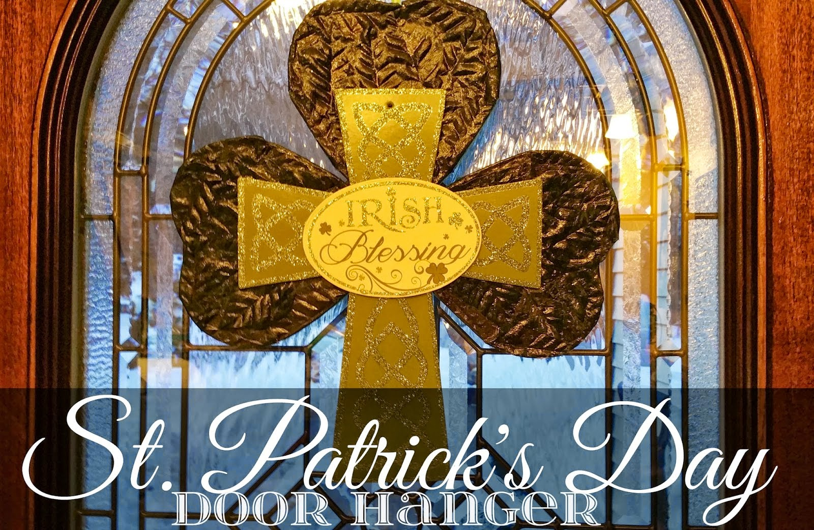 st patricks day door hanger wall plaque