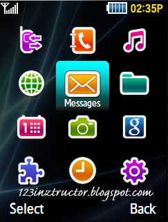 Samsung GT-M3318C Default Theme Download Menu