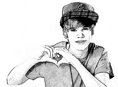 justin bieber picture wallpaper showing the sign of love with his own