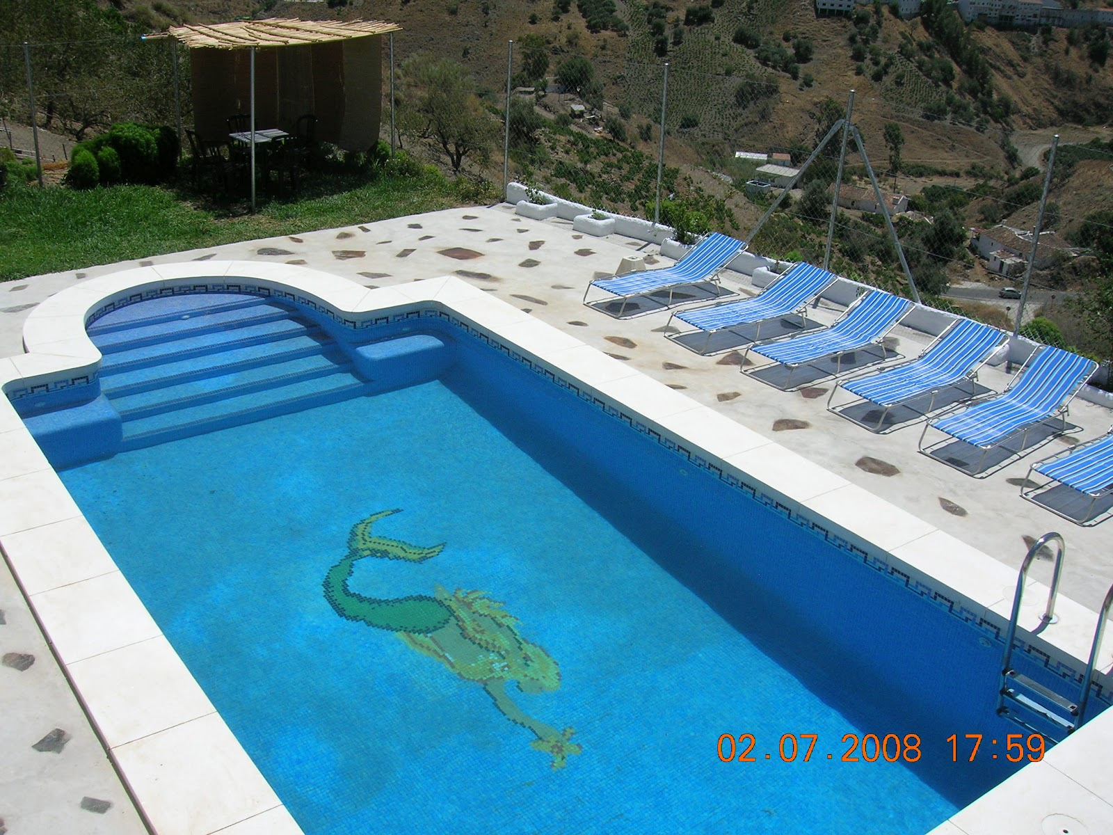 Casa villalba piscina con arco romano de 8x4m for Piscina villalba