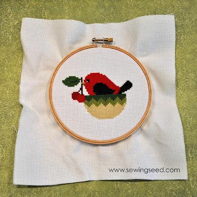 Sewingseed: Framing your needlework in a hoop