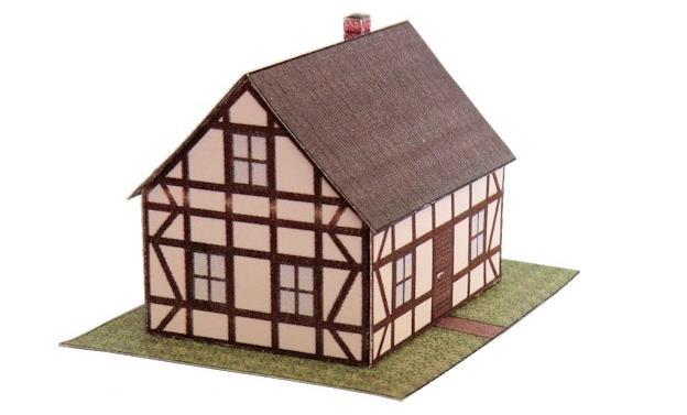 Tudor house model template