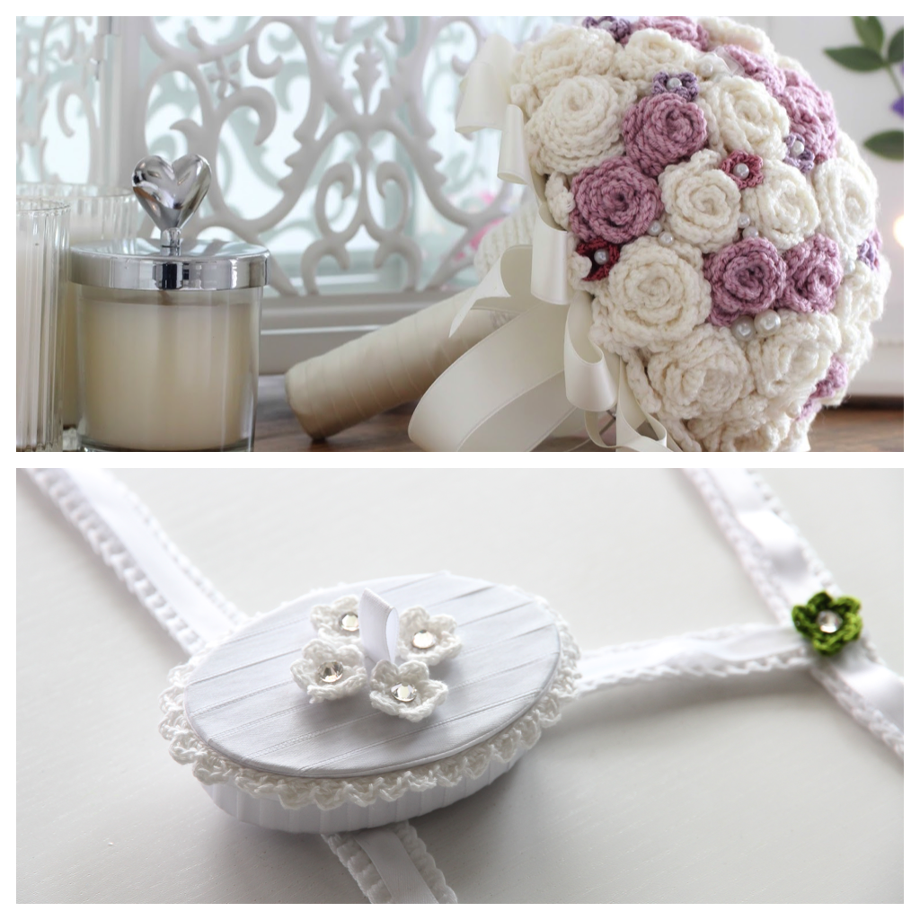 crochet pattern wedding flowers