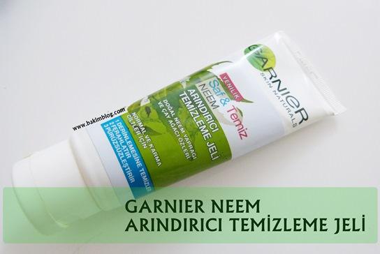 garnier neem arindirici temizleme jeli yagli cilt