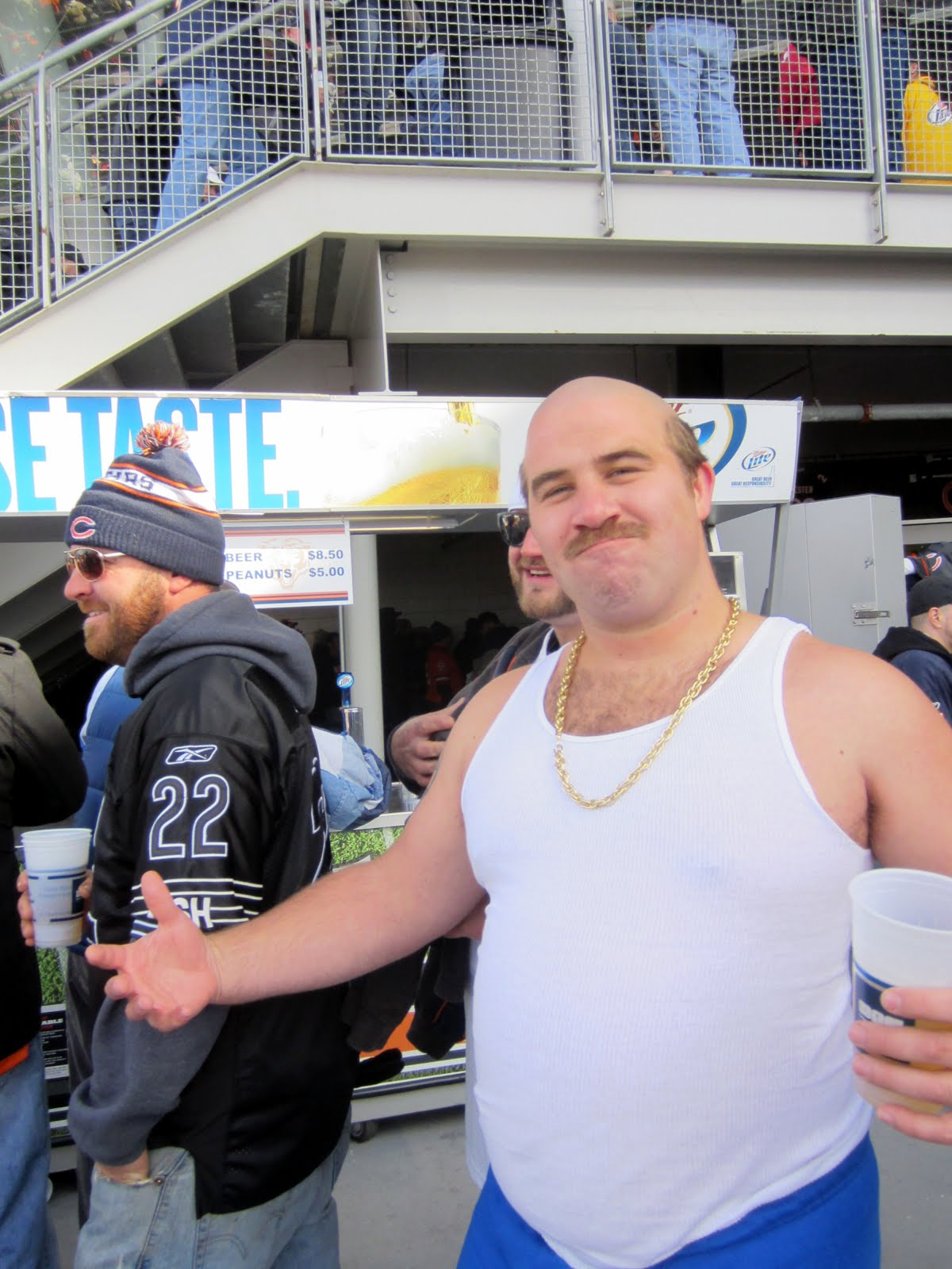 At the Bears / Carolina game it was COLD. This guy was in some sort of Halloween costume with shorts and just a T Shirt. This was half time and the guy ...  sc 1 st  Drunk Bear Fans & Drunk Bear Fans: Intentionally Bald Costume Dude (Carl ...
