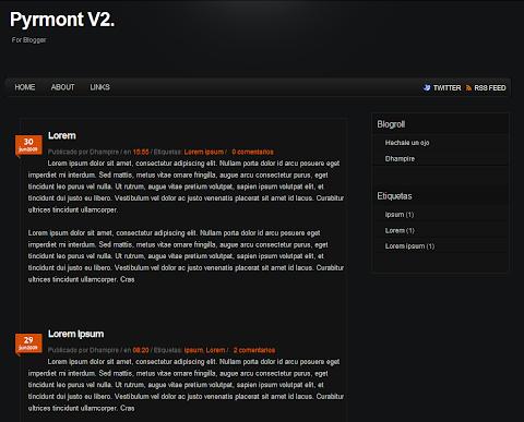 Pyrmont V2 Blogger Theme