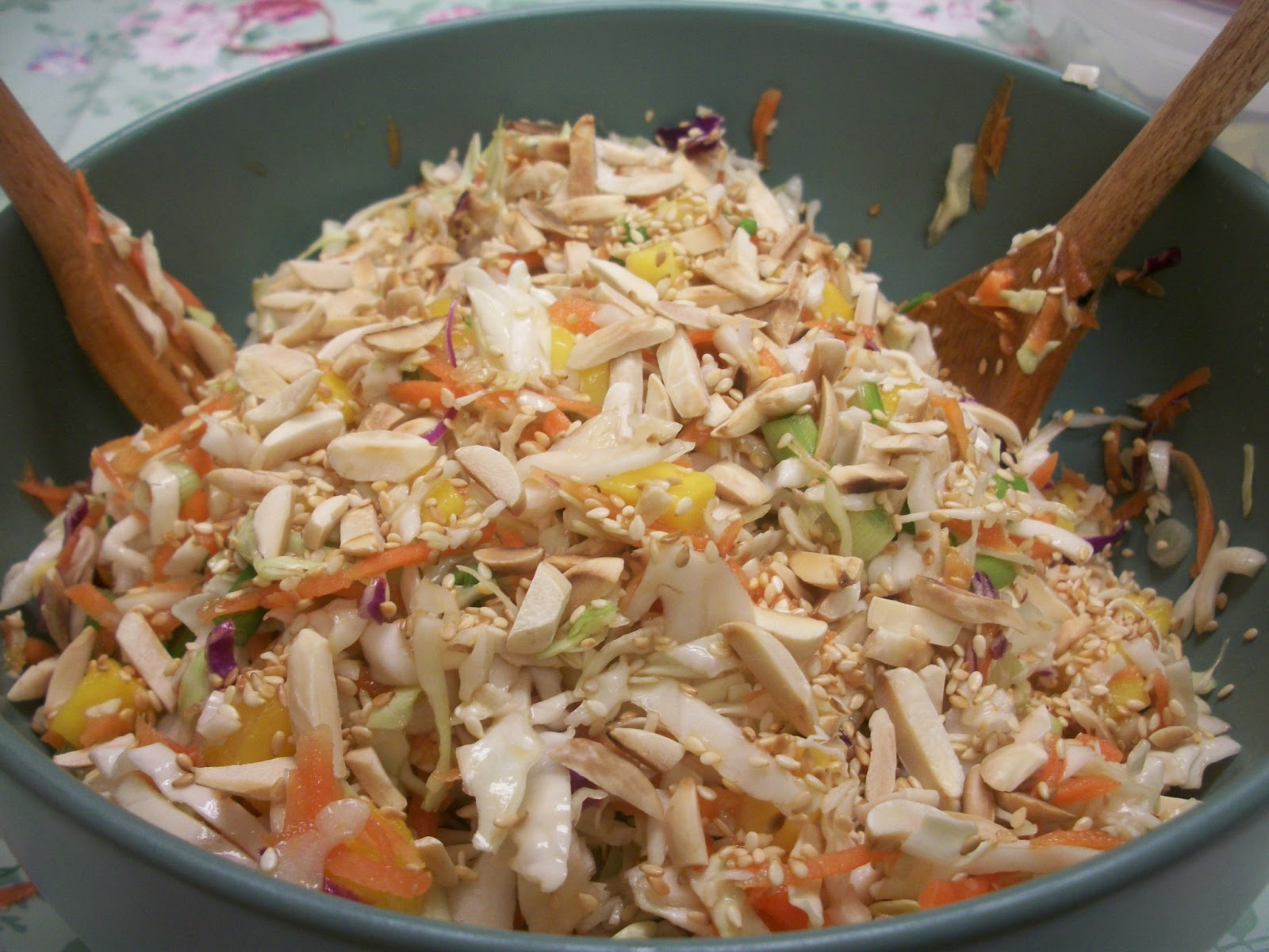 ... slaw asian cabbage mango slaw recipe dishmaps asian cabbage mango slaw