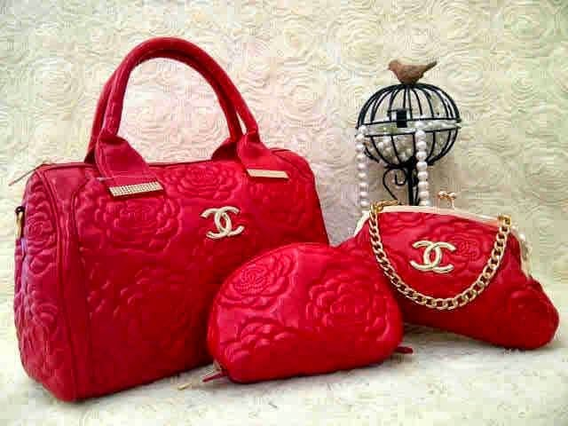 Chanel speedy rose set 3in1