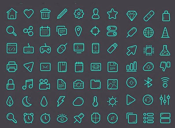 Glassy icon set – Sketch
