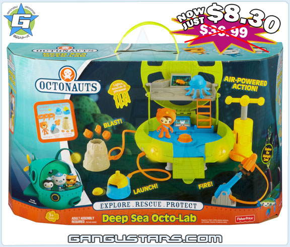 Octonauts Launch & Explore Octo Lab playset Barnacles Shellington new オクトノーツ キャプテン・バーナクルズ ディズニー Fisher-Price mattel