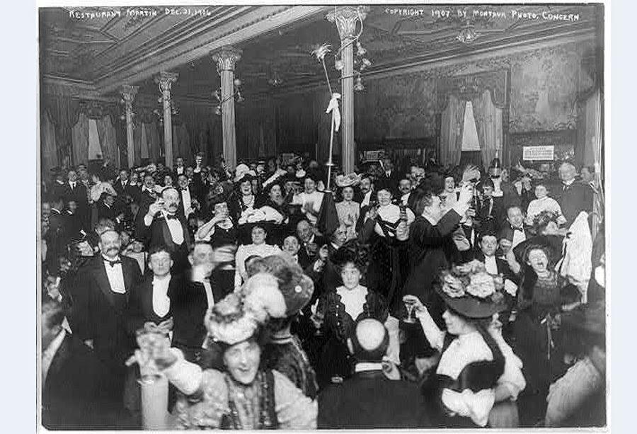 Celebración Fin de año 1907 Restaurante Nueva York