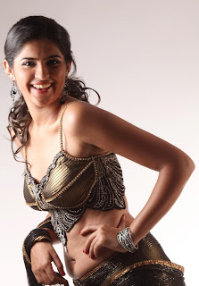 Deepshika Seth in a Strings Backless Blouse Fashion
