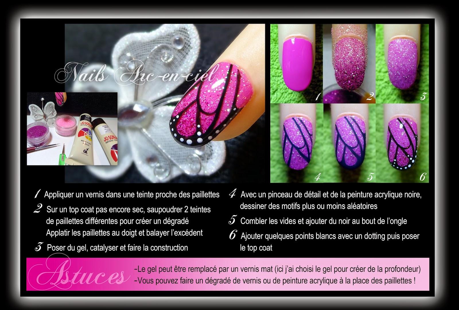 tuto nail art aile de papillon
