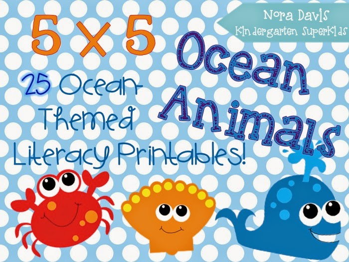 http://www.teacherspayteachers.com/Product/5x5-Ocean-Animals-Literacy-Printables-1242517