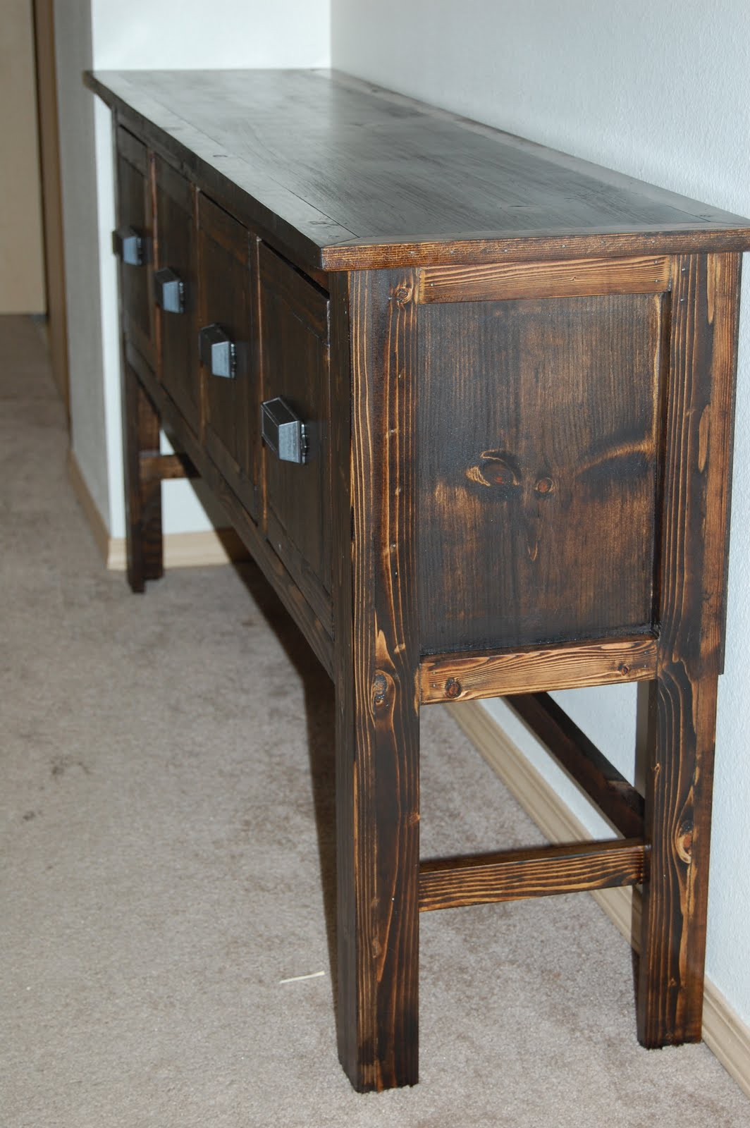 christiney 39 s crafts diy console table. Black Bedroom Furniture Sets. Home Design Ideas