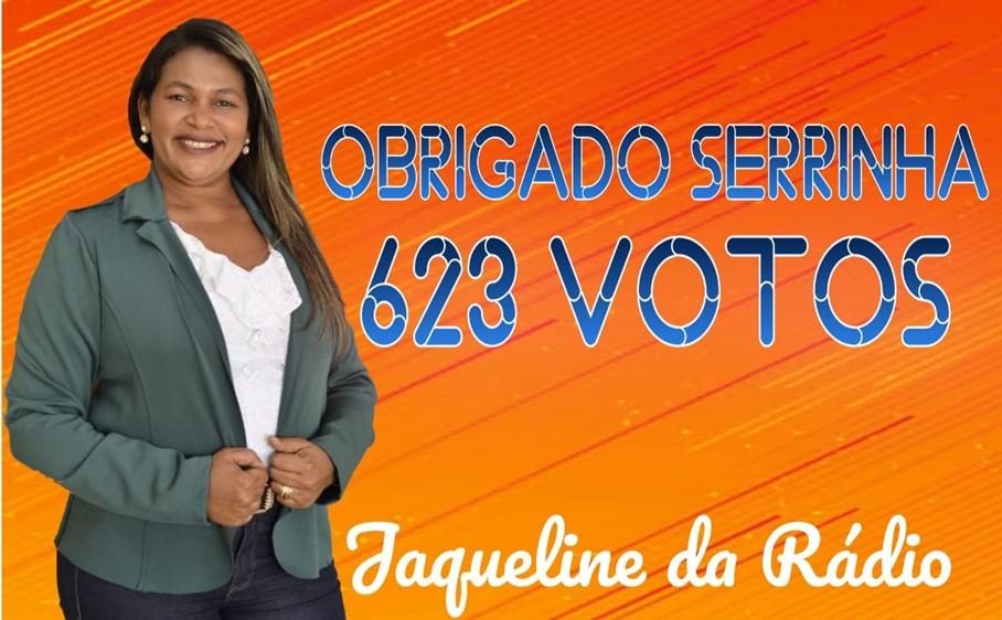 Jaqueline da Rádio agradece os 623 votos