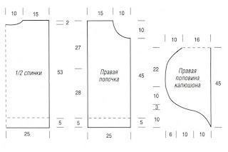 http://www.vyazemsami.ru// Жилет с капюшоном Выкройка