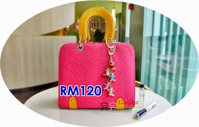 ELEGANT SUGAR COLOR FASHION BAG WITH CUTIE CHAIN 4 WARNA PILIHAN