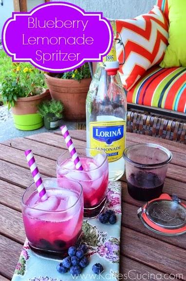 Blueberry Lemonade Spritzer - Katie's Cucina