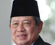 The president of Indonesia Susilo Bambang Yudhoyono