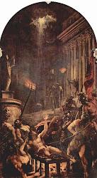Martiriul Sfantului Laurentiu pictura de Titzian
