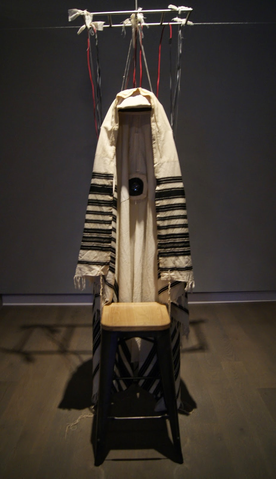 PARDES sound and multimedia art exhibit at Koffler Gallery in Toronto, culture Artscape, Youngplace, Gallery, Exhibition, Ontario, Canada, Israel, Israeli, artists, orchard, hebrew,  the purple scarf, melanie.ps, art, artmatters, drone, prayer, shawl, Soundtallit, 2014, Amnon Wolman