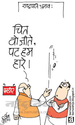 nda, bjp cartoon, president election cartoon, indian political cartoon