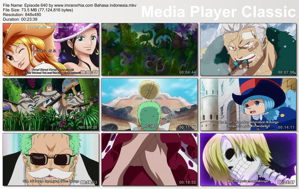 Download Film One Piece Episode 640 (Berpetualang! Pulau Peri, Green Bit!) Bahasa Indonesia