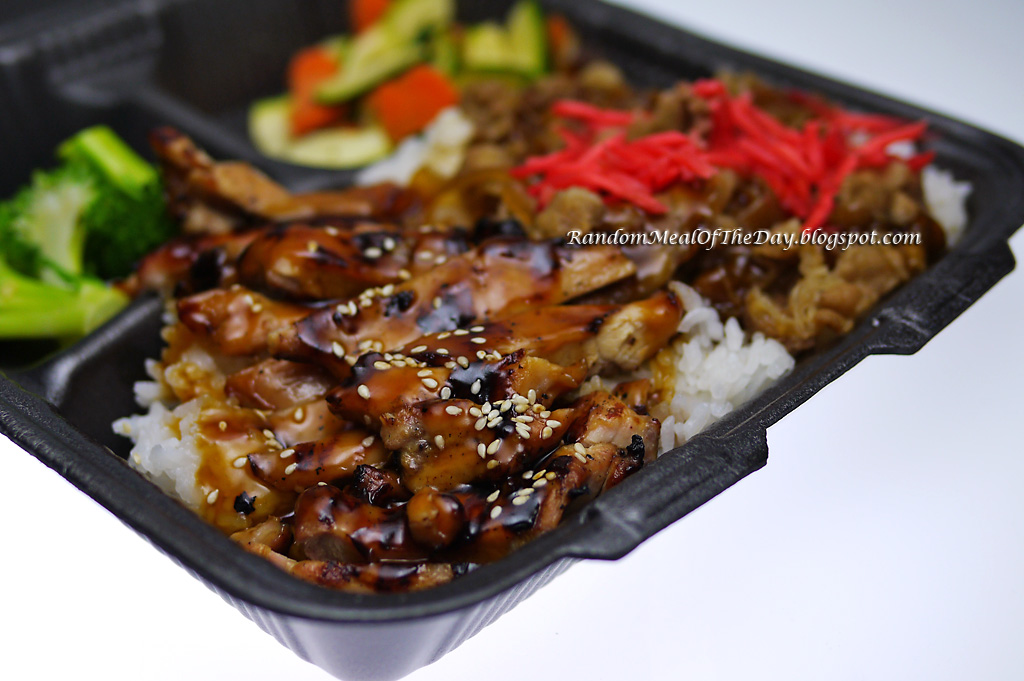 Chicken and Beef Rice Bowl