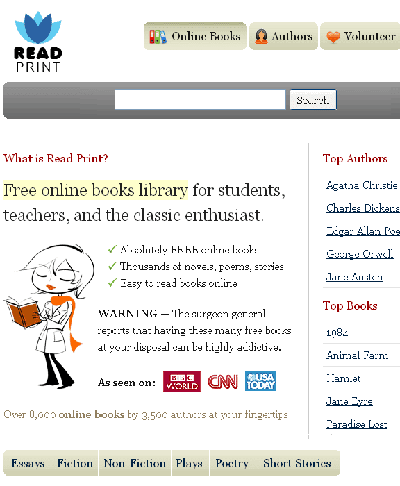 online readable essays If you are having trouble locating a specific resource please visit the search page or the site map.