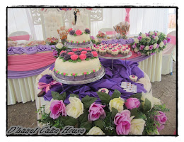 Wedding cake-pink purple
