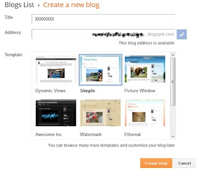 Last step to create a blog