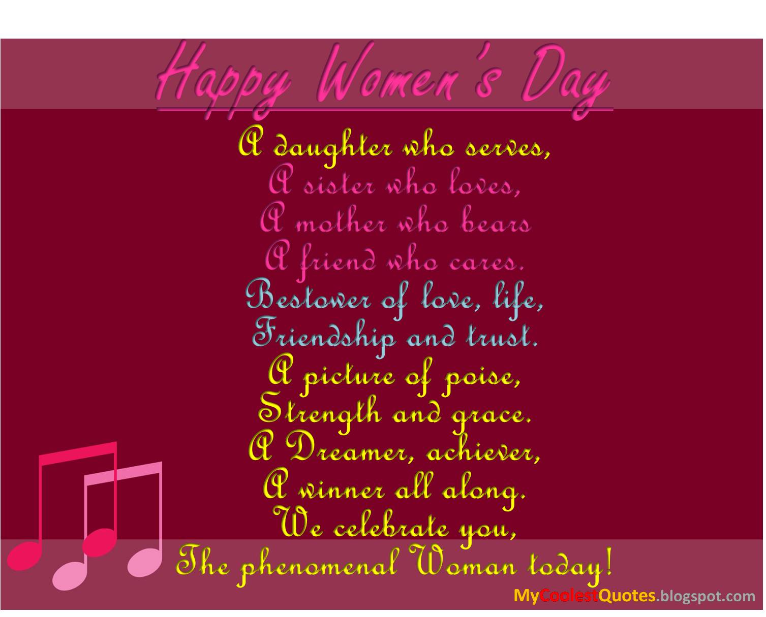 Phenomenal Woman Quotes Custom My Coolest Quotes Happy Women's Day  The Phenomenal Woman Of Today